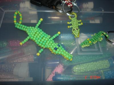 Les crocodiles en perles